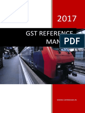 Indian GST Reference Manual | Value Added Tax | Taxes