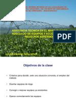 5. Asistencia Tecnica en El Manejo y Uso Adecuado de Equipos y Accesorios de Riego Por Aspersión