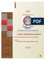 Analisis Hidrologico de La Cuenca Del Rio Chicon, Urubamba Cusco