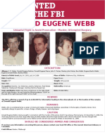 FBI wanted poster for Donald Eugene Webb
