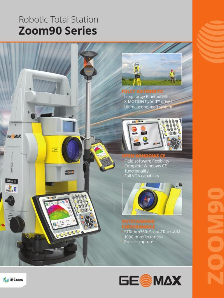 GeoMax Zoom90 Brochure   Bluetooth   Surveying