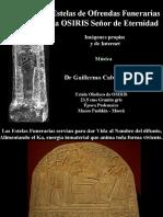 Estelas de Ofrendas Funerarias a Osiris Señor de Eternidad