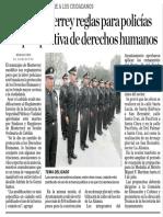 14-06-17 Avala Monterrey reglas para policías con perspectiva de derechos humanos
