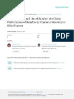 2014 - Artigo - Effect of Lintel and Lintel Band on the Global