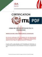 Certificación ITIL V3 Foundation
