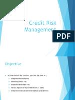 Credit Risk Managment Intro