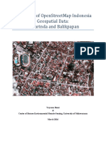 Evaluation of OpenStreetMap Indonesia Geospatial Data