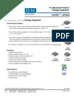 LM7805 Regulador de Voltaje. Datasheet