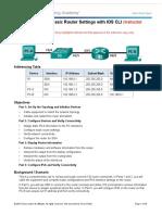 4.1.4.6 Práctica de Laboratorio Configuración de Los Parámetros Básicos Del Router Con La CLI Del IOS
