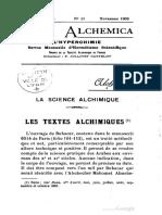 Rosa Alchemica Hyperchimie v8 n11 Nov 1903