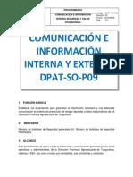 Dpat-so-p09 Comunacación e Información
