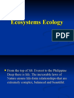 Ecosystems Ecology (New Jul 23)