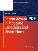 (Springer Series in Geomechanics and Geoengineering) Wei Wu (Eds.)-Recent Advances in Modeling Landslides and Debris Flows-Springer International Publishing (2015)