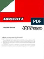 Owner`s Manual Ducati 906 Paso