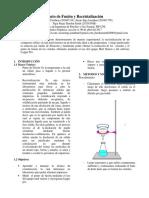 Informe Quimica Organica 1 FIPP UNI :v
