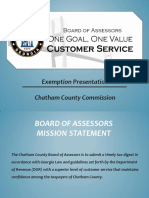 Chatham County Commission Exemption Presentation