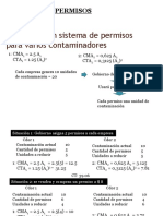 Sistema de permisos para contaminadores