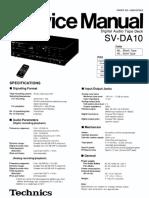 Hfe Technics Sv-da10 Service En