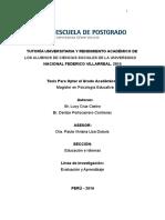 Tess (Tutoría Universitaria y Rendimiento Académico de Los Alumnos de Ciencias Sociales de La Unfv 2015) Lucy Castro y Denize Portocarrero Corregido