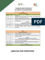Programa Congreso Alimentario