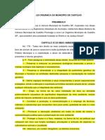 Lei Orgânica Do Município de Castilho