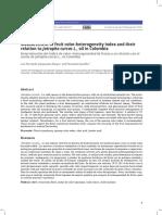 Determinación del índice de color- heterogeneidad de frutos y su relación con el aceite de Jatropha curcas L., en Colombia