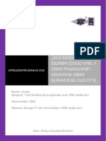 CU00707B Que Programas Necesito Para Escribir Codigo HTML Crear Paginas Web