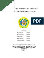 Makalah Peranan Komputer Pada Dinas Pertanian Dan Ketahanan Pangan Kota Bandung