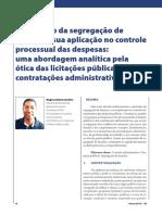 O princípio da segregação de funções e sua aplicação no controle processual das despesas