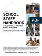 portlandschool staff handbook 2016-17