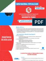 Curso Nacional Especializado Invierte Peru Junio