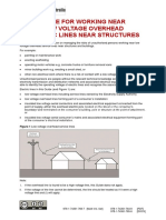 Guide Low Voltage Overhead Electric Lines Near Structures