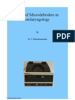 Role of microdebriders in otolaryngological surgery