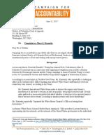 Washginton DC - CfA Kasowitz Bar Complaint 6-15-17