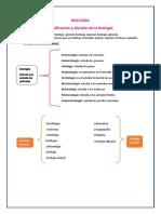 Clasificacion y División de La Biología