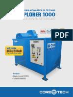 Brochure Cortadora Automatica de Testigos EXPLORER 1000
