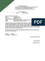 Surat Pernyataan Perubahan Nama Perusahaan