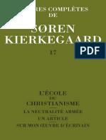 Kierkegaard - Oeuvres Completes - 17