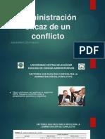 Administración de Un Conflicto