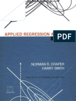 DRAPER, Norman & SMITH. Harry. Applied Regression Analysis