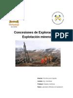 Concesiones de Exploración y Explotación Minera