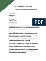 Teoria General Del Proceso (Medios de Solucion Del Conflicto)