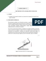 Lab Ndeg2 Movimientorectilineo Con Aceleracion Constante