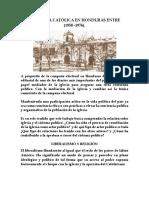 La Iglesia Católica en Honduras Entre - Resumen