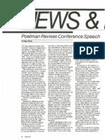 Elder Poelman Revises Conference Speech