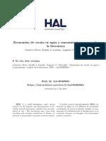 Economias Escala Agua y Saneamiento Revis Literat - Ferro - 2010