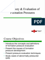Geology the Theory & Evaluation of Formation Pressures