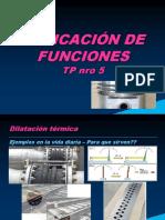Dilatación - Aplicación de Funciones