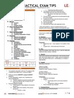 [ANA] 1.00 Practical Exam Tips - Phi Alpha Sigma
