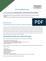 Evaluacion Del Receptor de Transplante Renal
